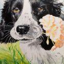 schilderij-figuratief-2014-hond-benji